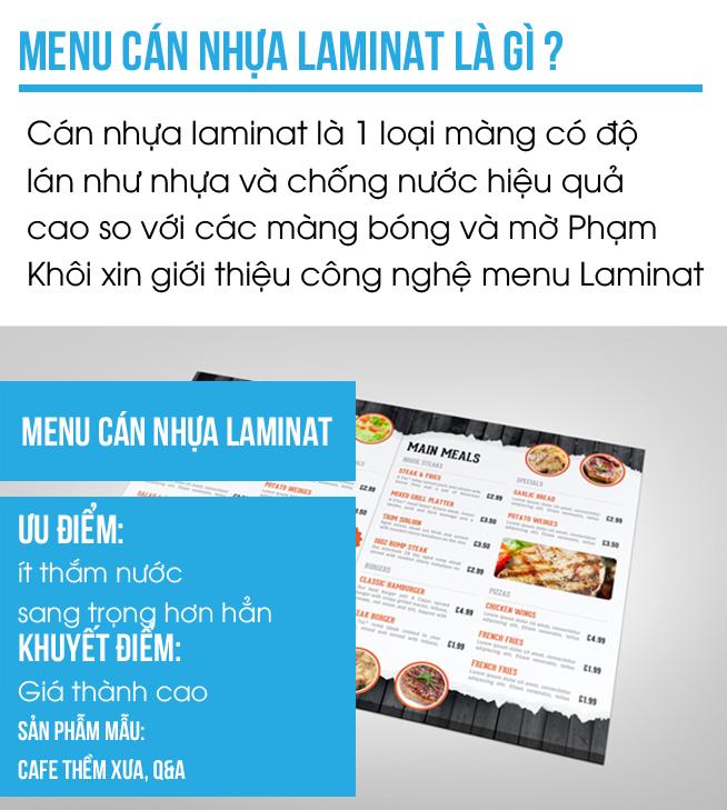 in menu giá rẻ , in menu cán nhựa laminat